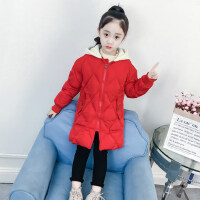 女童棉衣中长款冬装2018新款女孩棉袄洋气儿童反季棉服加厚外套冬