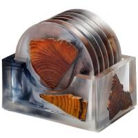 唐丰树脂松木茶杯垫北欧家用客厅功夫茶隔热垫创意防烫垫子茶托