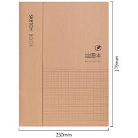 10本装得力牛皮纸封面多功能笔记本记事本方格错题绘图课堂笔记空白本子B5