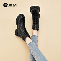 jm快�番���2020秋冬新款�壤��加�q百搭短靴子女ins潮�R丁靴