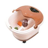 朗悦 一键启动足浴盆 LY-812B 足浴器 洗脚盆 加热 调温 定时 气泡 药盒 移动轮 提手设计