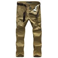 战地吉普AFS JEEP男式休闲长裤 男装水洗棉质多口袋休闲裤 中腰直筒裤子