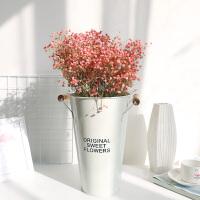 满天星干花永生花干花束家居摆设小清新ins北欧风网红花束多色 粉色 大份(不含桶) 干花包