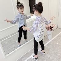 2019春装新款韩版儿童长袖衬衣洋气上衣女孩春季童装女童衬衫