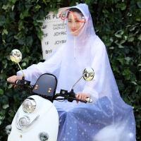摩托车雨衣单人带袖 电动车雨披单人男女士时尚带袖自行车摩托车透明雨衣Y XXXL