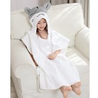 儿童浴袍婴儿斗篷带帽吸水毛巾料卡通柔软初生宝宝浴袍新生儿QL-113 白色 仓鼠-M码