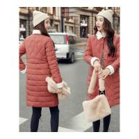 棉袄女新款女装轻薄羽绒中长款韩版棉衣反季冬天外套
