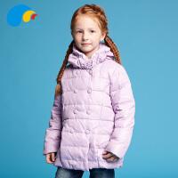 三点水童装冬装上新女童时尚休闲羽绒服中大童高领加厚外套