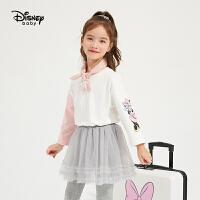【3件4折券后预估价:48】迪士尼女童红色毛衣背心2021春装新款洋气童装儿童宝宝马甲拜年服