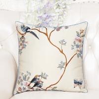 明清古典中式红木客厅沙发中国风抱枕靠垫靠背套腰枕腰靠靠枕含芯定制