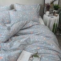 床上用品四件套全棉纯棉公主风床单人被套被子宿舍三件套定制