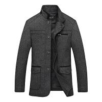 2016秋冬季新款男装中年男士外套 小立领帅气修身中式男士时尚外套夹克