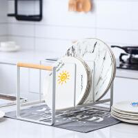 北欧家用碗盘收纳架多功能厨房台面盘子置物架晾碗架沥水架简约 盘架 铁艺