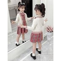 2019新款儿童开衫连衣裙子两件套大童装女童秋装套装