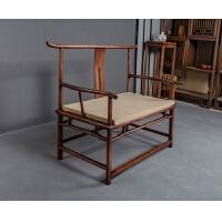 【新品热卖】实木打坐官帽椅禅意圈椅老榆木中式主人椅太师椅明式大号仿古禅椅