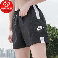 Nike/耐克女裤新款跑步健身训练运动裤舒适透气宽松休闲裤短裤CJ1689-010