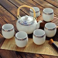 【新品】 茶具套装 景德镇陶瓷茶具套装 加厚6茶杯1茶壶