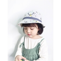 女孩休闲出游儿童帽子2-4岁儿童渔夫帽春季清新遮阳帽宝宝帽