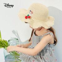 【99元3件:33元】迪士尼女童夏季新款太阳帽2021女宝宝鸭舌帽儿童遮阳帽女时尚洋气