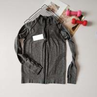 户外秋冬立领拉链运动外套健身跑步训练速干上衣女瑜伽服