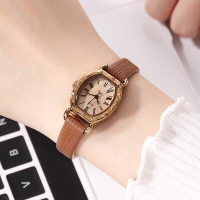 潮流时尚女表皮带学生手表皮带防水复古表