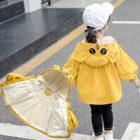 童装女宝宝外套春秋装女童风衣小童儿童公主上衣冬装