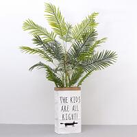 北欧尤加利龟背叶假花仿真花植物树客厅落地摆件盆栽袋子套装创意家居仿真