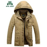 AFS JEEP战地吉普 冬季棉衣男棉袄 男装休闲宽松加绒加厚大码棉服外套 男士保暖外套