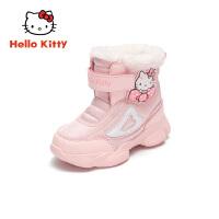 HelloKitty凯蒂猫童鞋女童雪地靴2019冬季新款女孩加厚靴子儿童保暖加棉K9546816