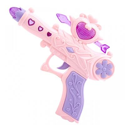 宜佳达 儿童宝宝玩具枪男孩女孩灯光音乐投影电动枪声光塑料耐摔警察玩具  收藏送2节7号电池