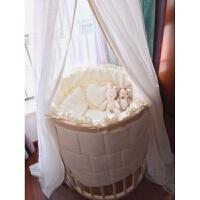 婴儿床上用品七色花婴儿床品定制圆床床围床笠椭圆床床品通用ZQ-YS015 圆床椭圆床通用