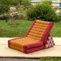 泰国三角靠垫腰靠飘窗垫子木棉进口窗台垫沙发榻榻米护腰床头软包定制 10棒 红黄菱形 10棒 165x50x30cm