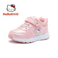 HELLO KITTY凯蒂猫童鞋女童棉鞋2019春秋新款女孩休闲鞋儿童运动鞋潮K8543814