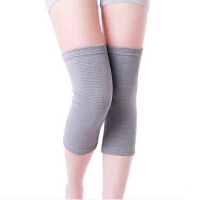 男女士老年人运动护膝夏季空调房保暖针织护腿加长 竹炭护膝薄款护腿