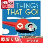 【Pop-up立体书】Things That Go!交通工具 精致小巧儿童英文童书