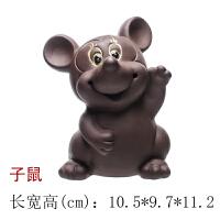 【品牌热卖】紫砂茶宠摆件精品可养十二生肖可爱茶玩猪牛龙狗兔子猴子茶具配件