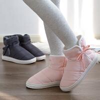 雪地靴女冬季时尚情侣舒适加绒加厚底保暖加绒短筒棉鞋男