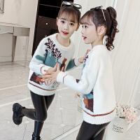 女童毛衣儿童针织上衣套头秋季小女孩洋气秋装
