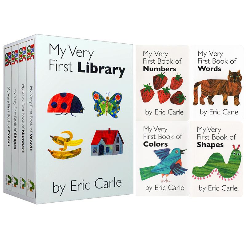 英文原版绘本 Eric Carle My Very First Library 我的第一个图书馆 Eric Carle 艾瑞卡尔爷爷 名家作品