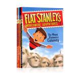 纸片人斯坦利大冒险4册全套 Flat Stanley's Worldwide Adventures 英文原版 儿童章节