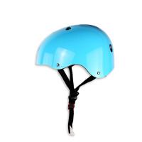儿童平衡车护具套装骑行头盔宝宝轮滑鞋装备护膝护肘全套防摔 头盔 蓝色