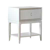 高端定制家具小美式置物柜欧式简约卧室实木床头柜M578 更多尺寸与颜色 整装