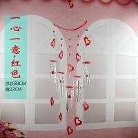 风铃挂件女生可爱儿童创意男女生生日礼物金属卧室装饰品森系 红色 1心1意