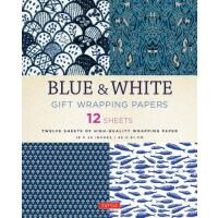 【预订】Blue & White Gift Wrapping Papers: 12 Sheets of High-Qu