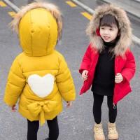 2019冬季新款小童中长款童装宝宝加厚洋气外套女童冬装棉衣