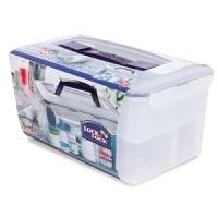 乐扣乐扣保鲜盒塑料储物盒HPL891 5L微波餐盒饭盒便当盒 半透明