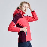 探路者冲锋衣女 套抓绒三合一两件套防风保暖潮牌冲锋衣KAWE92321