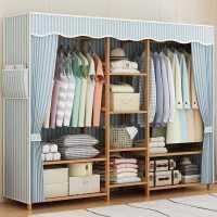 衣柜家用卧室出租房简约现代经济型组装实木简易布用女生大衣橱