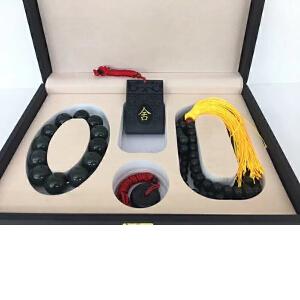 和田玉 国礼套装 手串、牌子、平安扣、108佛珠一套