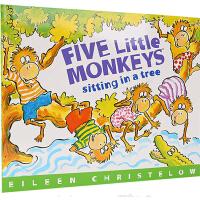 廖彩杏书单英文原版绘本 Five Little Monkeys Sitting in a Tree 五只小猴在树上 3